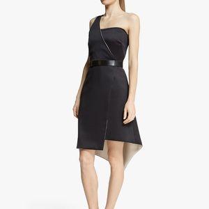 Halston heritage satin asymmetrical dress 4 NWT